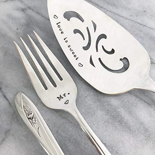 VintageLove is Sweet Cake Server and forks set. Mr & Mrs.Tulips [並行輸入品]   B07N8DM6FJ
