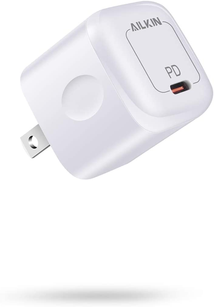 USB-C Wall Charger Adapter, 20W PD Type C Fast Charging Block USBC Plug Cube, Mini Travel Charge Box Brick for iPhone 12 Pro Max, SE, MagSafe, iPad, Airpods, 11, XR, XS, X, Samsung, PS5 Controller