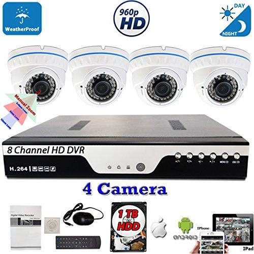 Evertech 8 Channel HD DVR Indoor Outdoor Night Vision Indoor