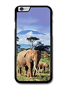 "AMAF ? Accessories Elephants With Kilimanjaro On The Background case for iPhone 6 Plus (5.5"")"