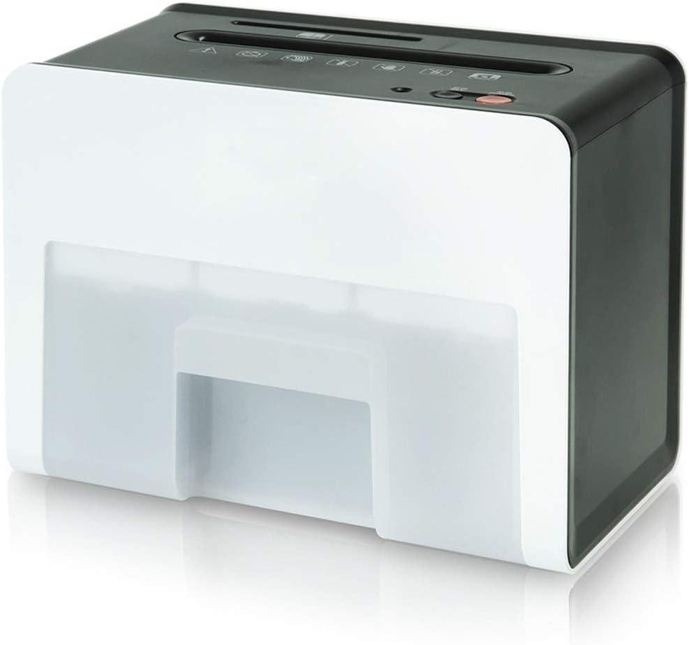 シュレッダー レベル4機密個人オフィスホーム多機能小型シュレッダーシュレッダーファイル 電動シュレッダー (色 : White, Size : 19.2x16.4x25cm)