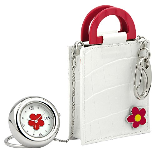 Novelty Charm/Keychain Watch -White Handbag