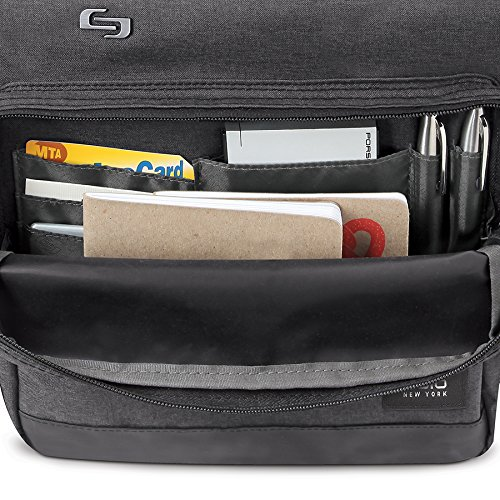 Solo Duane 15.6 Inch Laptop Hybrid Briefcase, Converts to Backpack, Grey by SOLO (Image #7)