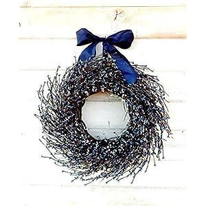 Fall Wreath, Winter Wreath, Spring Wreath, Summer Wreath-Summer Door Wreaths, Blue & White Wreath, Rustic Farmhouse Wreath, 4th of July Decor, Patriotic Door Wreath, Housewarming Gift, Christmas Gifts