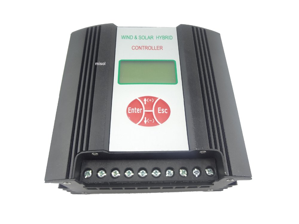 MISOL Hybrid Solar Wind Charge Controller 600W 48VAC/ wind charge controller / wind regulator / solar regulator / rs communication / low voltage charge/wind turbine/Hybrid Solar Wind Laderegler / Windladeregler / Windregler / Solarregler / Windrad