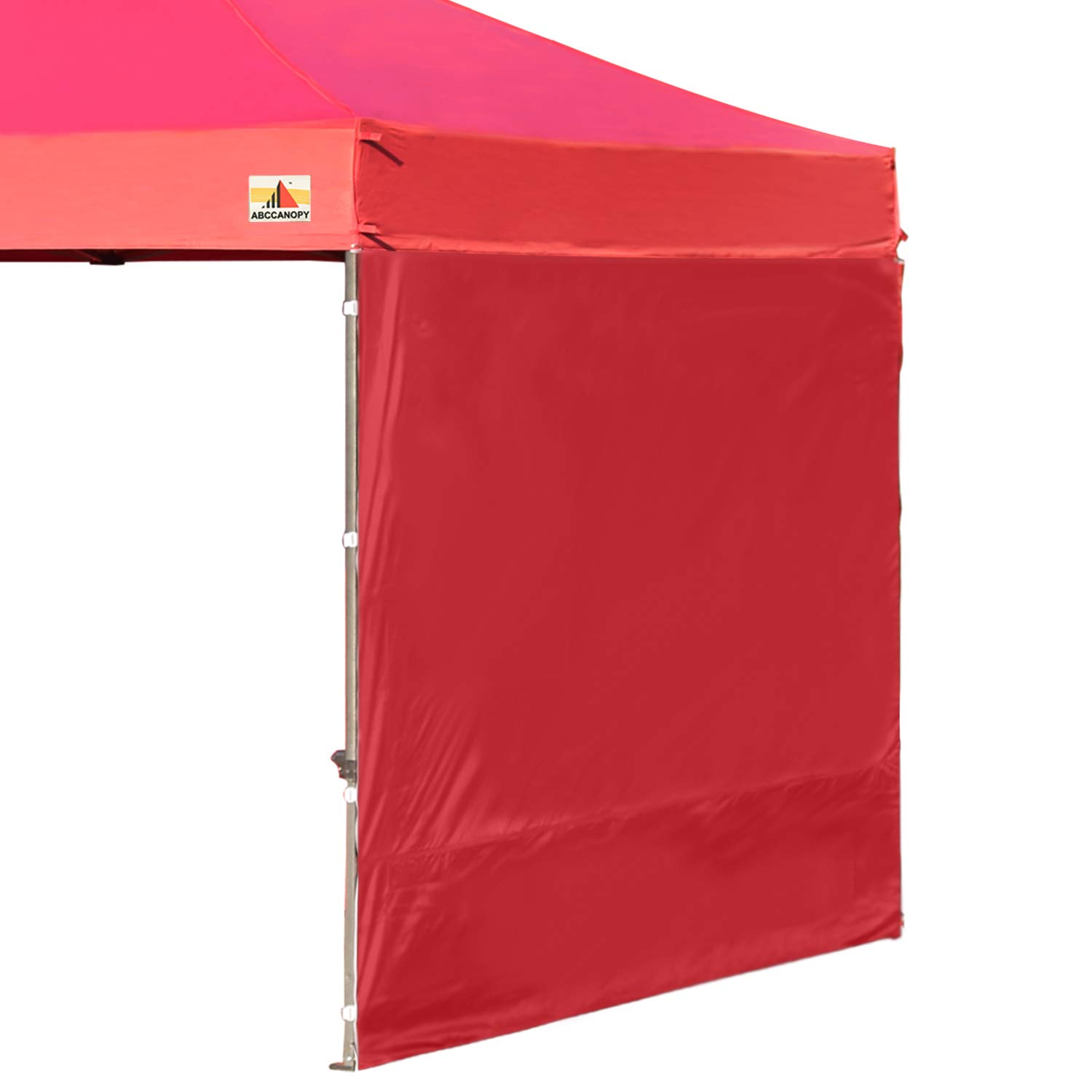 ABCCANOPY 15+Colors 10' Sun Wall for 10'x 10' Straight Leg pop up Canopy Tent, 10' Sidewall kit (1 Panel) with Truss Straps, (Burgundy) by ABCCANOPY