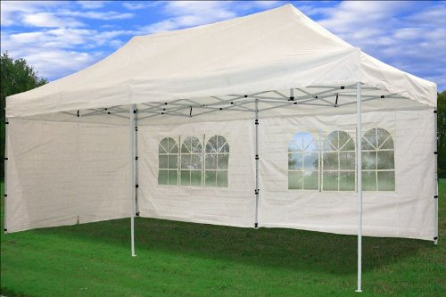 Amazon.com 10u0027x20u0027 Pop up 6 Wall Canopy Party Tent Gazebo Ez White - F Model Upgraded Frame By DELTA Canopies Garden u0026 Outdoor : pop up event tent - memphite.com