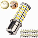 20 x Super Bright 1141 RV Interior LED Light 1156 1003 BA15S 68-SMD Camper Trailer Turn Signal Lamp Bulb 12V Landscape Pathway Outdoor(20pieces of Soft White (4000K-4500K Color Temputure))