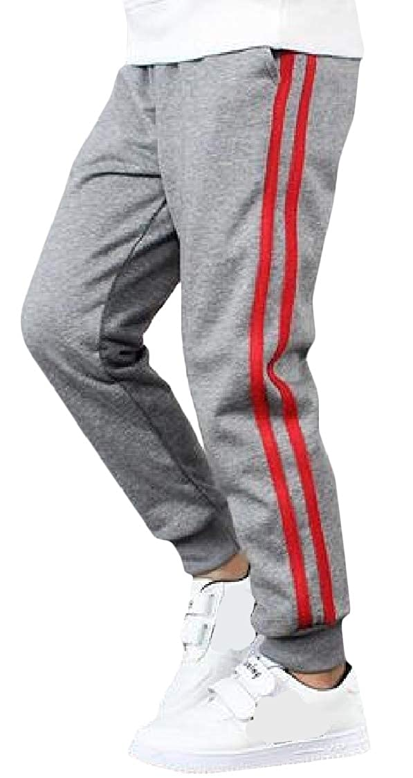 Pandapang Big Boys Loose Jogging Athletic Casual Sweatpants Stripe Pants