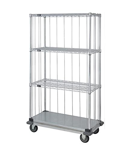 Amazon.com: Quantum 3 Sided Dolly Base Wire Shelf Cart 74