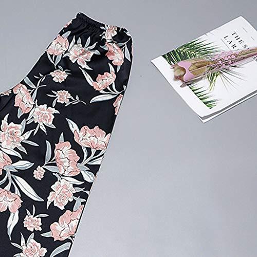 vêtements Black Sexy Nuit Long Satin Lingerie Sous Vêtements Bessky Imprimé Dentelle De Femmes Pantalon ABaEOwqH