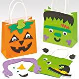 Halloween Treat Bag Kits for Children to Make and Decorate (Pack of 4)