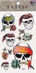 Temporary Tattoo Skulls and Roses Tattoo