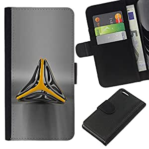 [Neutron-Star] Modelo colorido cuero de la carpeta del tirón del caso cubierta piel Holster Funda protecció Para Apple iPhone 5C [Abstract Triangle Sign]