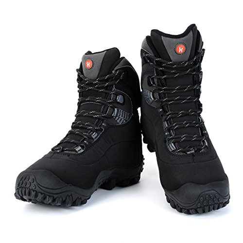 19fc53a31c9 XPETI Women's Thermator Mid High-Top Waterproof Hiking Boot Black 6  Lightweight Outdoor All-Weather Protection Vegan Trekking Hunting Training  Walking ...