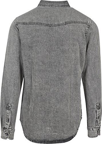 In Grigio Jeans 01378 Denim grey Urban Pocket Camicia Classics Uomo Wash Shirt xqCnWnXS