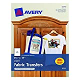 Avery T-Shirt Transfers for Inkjet Printers, 8.5 x 11 Inches, 5 Pack (03275)