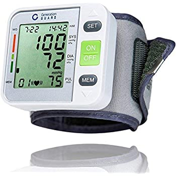 Clinical Automatic Blood Pressure Monitor FDA Approved by Generation Guard with Large Screen Display Portable Case Irregular Heartbeat BP and Adjustable ...