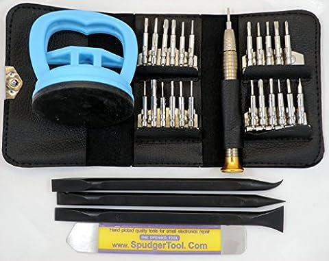 SpudgerToolCOM LCD Repair Kit w/ 24 Screwdriver Tips, Large Strong 2 1/4
