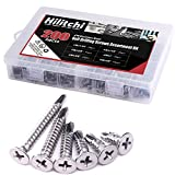 Hilitchi 410 Stainless Steel #10 Flat Head Phillips