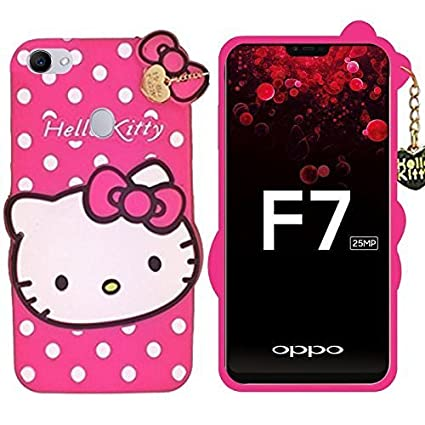 sports shoes 9fcd1 4ebb9 ORC Oppo F7 Soft Silicone Cartoon Printed Hello Kitty: Amazon.in ...