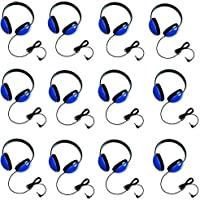 Califone 2800-BL Listening First Headphones in Blue (Set of 12)