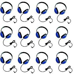 Califone 2800-BL Listening First Headphones in Blue (Set of 12)