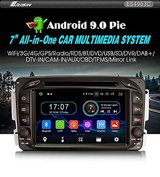 Radio de Coche Erisin ES4963C 7 Pulgadas Android 9.0 GPS Mercedes ...