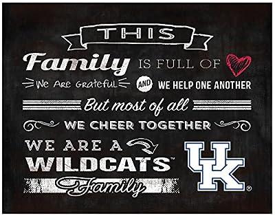 """KH Sports Fan 9.75""""X7.75"""" Kentucky Wildcats Family Cheer Collage Light Box Insert"""