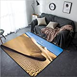 Vanfan Design Home Decorative 426313549 Sandy dunes in famous natural Maspalomas beach on Gran Canaria Spain Modern Non-Slip Doormats Carpet for Living Dining Room Bedroom Hallway Office Easy Clean F