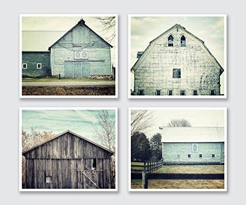 Rustic Farmhouse Decor Set of 4 5x7