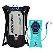 Arvano Hydration Pack Bike with 2l Water Bladder,Small Mountain Biking Backpack Lightweight Bicycle Daypack,6l Mini…