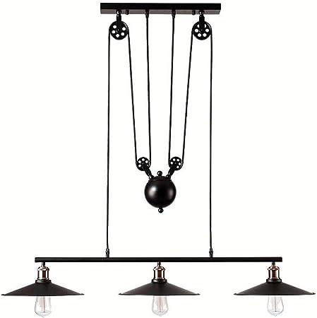 Lift Pendant chandelier, Telescopic Hanging lighting