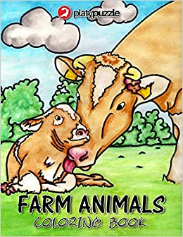Farm Animals Coloring Book By Platypuzzle: 30 Cute Designs ...