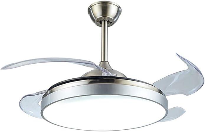 Luz del ventilador de techo Ultra-delgada de techo invisible Ventilador de Luz Salón Dormitorio Comedor luz de techo del ventilador con control remoto Control de luz Led Fan Ventiladores de techo: Amazon.es: