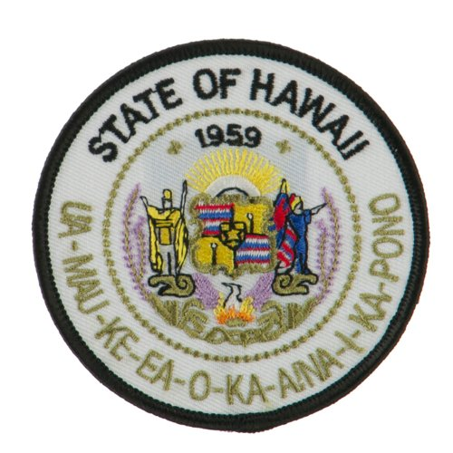 - Western State Seal Embroidered Patch - Hawaii OSFM