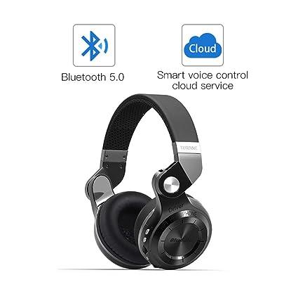 Wj Auricular Bluetooth, Portátil Inalámbrico con Cancelación Activa De Ruido TF Tarjeta Hi-Fi