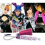 2NE1 携帯イニシャルストラップ iPhoneイニシャルストラップ スマホイニシャルストラップ