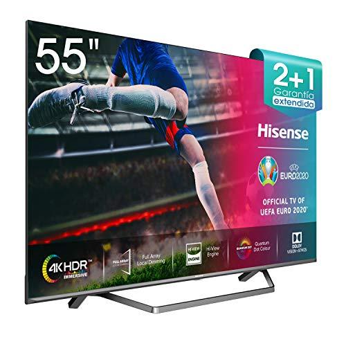 Hisense ULED 2020 55U71QF – Smart TV 55″ Resolución 4K, Quantum Dot, FALD, Dolby Vision, Dolby Atmos, Vidaa U 4.0 con IA, Alexa Built-in