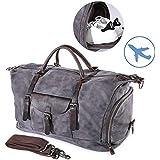 22'' Travel Luggage Bag Large Canvas Duffel Bag Portable Sports Hand Bag for Women Men Vintage Weekender Duffel Bag