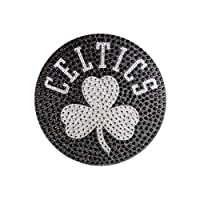 "NBA Boston Celtics Bling Emblem, 6.25"" x 6.25"", Silver"