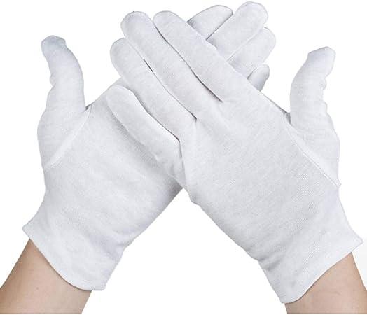 Guantes Guantes ultrafinos cálidos Guantes táctile Guantes 12 pares de guantes blancos algodón wenwan algodón blanco etiqueta pelotón algodón desfile sección delgada trabajo elástico línea de conducci: Amazon.es: Hogar