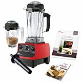 Cheap Vitamix 5200 Super Package with 64oz 32oz Containers, a Cookbook/DVD , and Spatulas. 7 Year Full Warranty (RED)