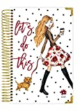 """bloom daily planners 2018 Calendar Year HARD COVER Daily Planner - Passion/Goal Organizer - Monthly and Weekly Datebook Agenda Diary - January 2018 - December 2018 (6"""" x 8.25"""") - Fashion Girl"""