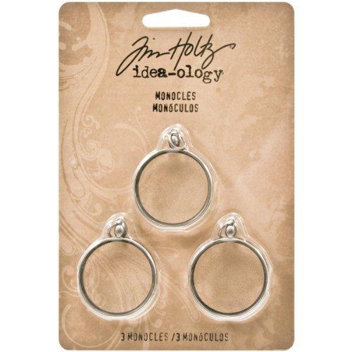 Tim Holtz idea-ology 3 Monocles Antique Nickel Finish Silver by Advantus by ADVANTUS CORPORATION