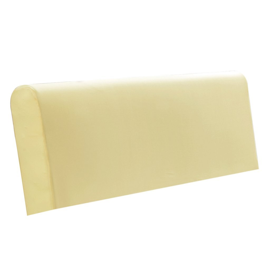 Homyl Dustproof Stretch Bed Headboard Slipcover Protector Cover Fits 140-170cm Width - Yellow