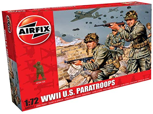 Airfix A00751 WWII US Troops Figures 1:72 Military Soldiers Plastic Model Kit