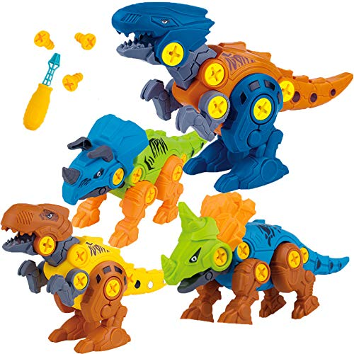 Take Apart Dinosaur Toys Creative Building Play Set Gift for Toddlers Age 4 5 6 7 8 9 Years Old STEM Learning Kit for Kids Boys Girls