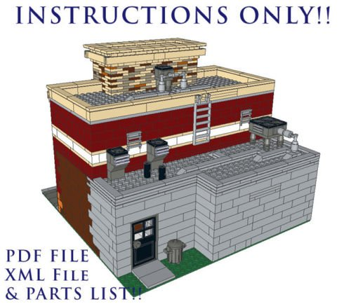 lego custom modular building instructions free