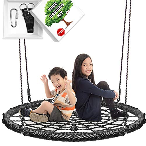 KHOMO GEAR - Extra Large 40 Inches Diameter Swing & Spin Set - Complete Set - Includes Tree Swing Hanging -